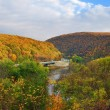 Delaware Water Gap panorama in Autumn — Stock Photo #5565575