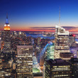 New york city manhattan empire state building e times square — Foto Stock