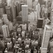 New York City Manhattan skyline aerial view black and white — Stock Photo #5566130