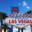 Las Vegas welcome sign — Stock fotografie #5566140