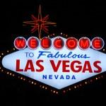 Las Vegas welcome sign — Stock Photo
