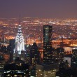 New York City Manhattan Chrysler building at night — Stock Photo