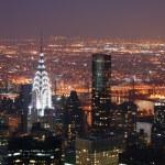 New York City Manhattan Chrysler building at night — Stock Photo