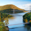 Hudson River valley panorama — Stock Photo