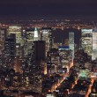 New york manhattan skyline panorama Luchtfoto uitzicht op de stad in de schemering — Stockfoto #5567075