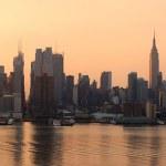 Manhattan skyline panorama in New York City — Stock Photo