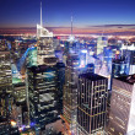 New York City Manhattan Times Square skyline — Stock Photo