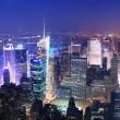 Royalty-Free Stock Photo: New York City Manhattan Times Square skyline aerial view