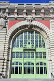 New York City Ellis Island Great Hall arch window — Stock Photo