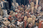 New York City Manhattan street aerial view — Stock Photo