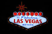 Las Vegas welcome sign — Stock Photo