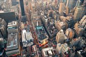 New York City street aerial view — Stock Photo
