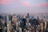 Luchtfoto van de new york city — Stockfoto