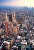 New york city manhattan skyline luftbild — Stockfoto