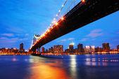 New York City Manhattan bridge — Stock Photo