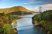 Vale do rio hudson no outono — Foto Stock