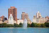 New York City Central Park and Manhattan skyline — Stock Photo