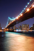 Manhattan Bridge over Hudson River — Stock Photo