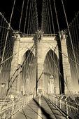 New York City Brooklyn Bridge closeup — Stock Photo