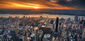 New York City sunset panorama — Stock Photo