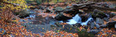 Autumn creek panorama — Stock Photo