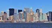 New York City Manhattan downtown panorama — Stock Photo