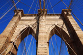 Nueva york brooklyn bridge closeup — Foto de Stock