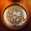 United Nations logo - Stock Photo