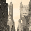 Stock Photo: New York City Manhattstreet view black and white