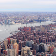 Brooklyn skyline Arial view from New York City Manhattan — Stock Photo #5593639