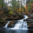 Autumn Waterfall in mountain — Stock Photo #5593716