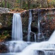 Autumn Waterfall in mountain — Stockfoto