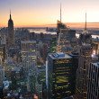 New York City Manhattan skyline - Stock Photo