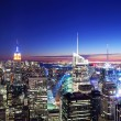 New York City Manhattan skyline sunset — Stock fotografie