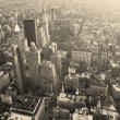 New York City Manhattan skyline aerial view black and white — Stock Photo #5593816