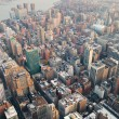 New York City Manhattan skyline aerial view — Stock Photo