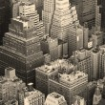 New York City Manhattan skyline aerial view black and white — Stock Photo #5593820