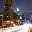 MANHATTAN NIGHT VIEW, NEW YORK CITY - Stock Photo