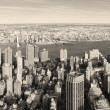 New York City Manhattan panorama aerial view — Stock Photo