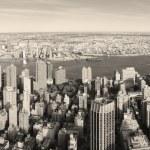 New York City Manhattan panorama aerial view — Stock Photo