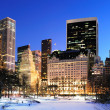 New York City Manhattan Central Park panorama in winter - Stock Photo