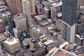 New York City Manhattan street aerial view — Stock Photo