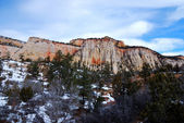 Zion National Park in winter — Stock Photo
