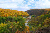 Delaware Water Gap panorama in Autumn — Stock Photo