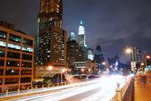 MANHATTAN NIGHT VIEW, NEW YORK CITY — Stock Photo