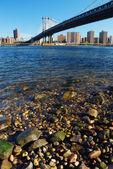 Manhattan Bridge in the morning — Stock Photo