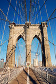 Manhattan Brooklyn Bridge closeup — Stock Photo