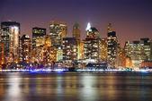 我市市区夜天际线 — 图库照片