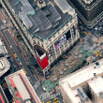 New York City Manhattan street aerial view — Stock Photo #6083543