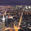 New York City Manhattan skyline aerial view at dusk — Stock Photo